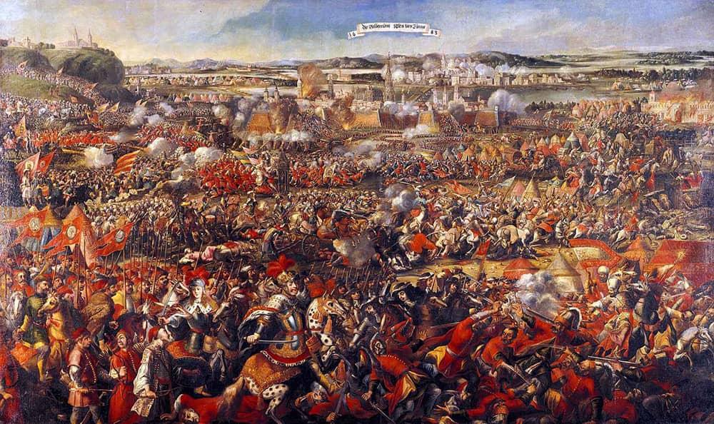 Tranh vẽ chiến trường Vienna giữa Áo và đế quốc Ottoman trong lịch sử