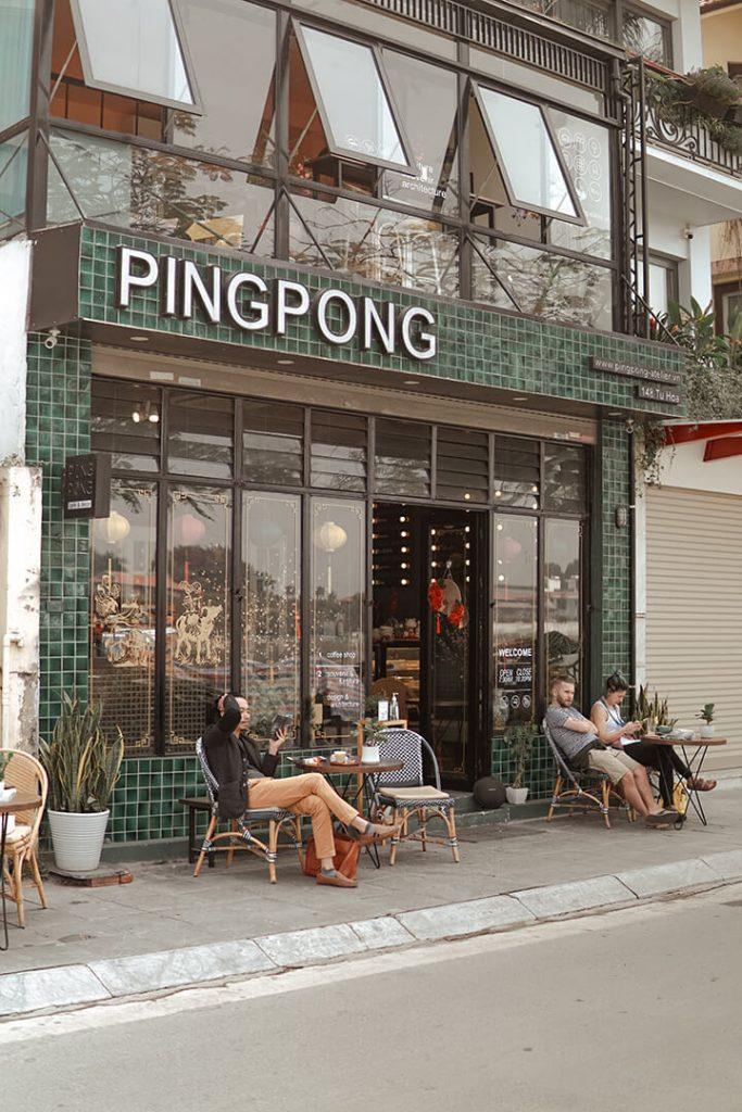 pingpong cafe tây hồ