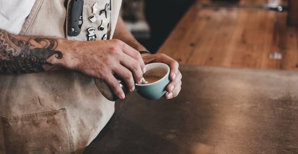pha chế macchiato coffee