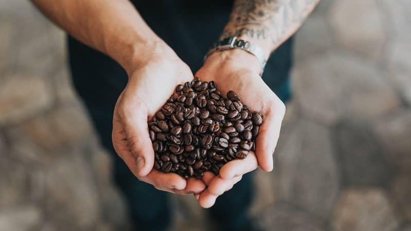 hạt cà phê chưa pha chế