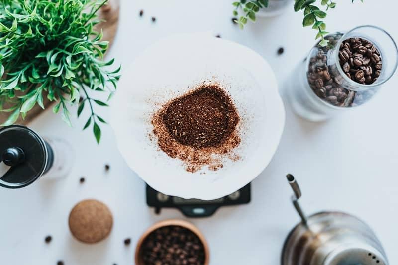 hạt cà phê sau khi xay