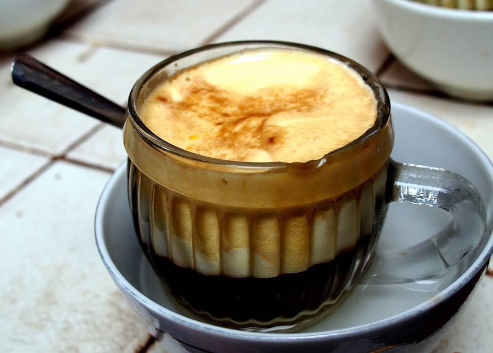 cafe trứng khi hoàn thành
